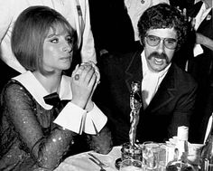 Actor Elliot Gould and his singer-actress wife Barbra Streisand attend the Academy Awards Ceremony, April 1969, in Hollywood. Barbra won an Oscar for her part in the film 'Funny Girl'. (AP Photo)