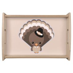 Cute Turkey Thanksgiving Day Serving Tray