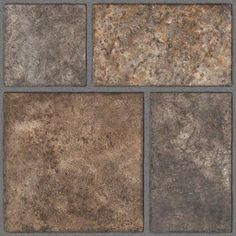 TrafficMASTER Allure 12 in. x 36 in. Yukon Brown Resilient Vinyl Tile Flooring (24 sq. ft. / case)-212011.0 - The Home Depot