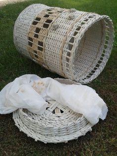 laundry basket - kirli sepeti - diy - geri dönüşüm - newspaper weaving -