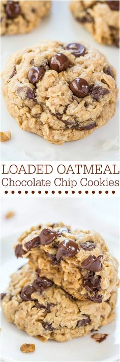 Loaded Oatmeal Coconut Chocolate Chip Cookies - Averie Cooks