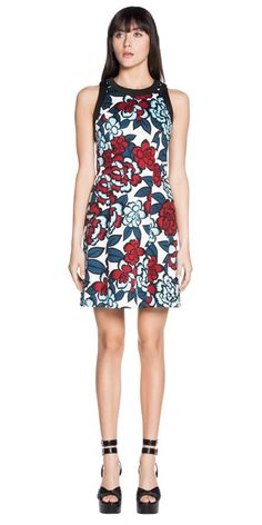 Sale | Floral Sateen Sleeveless Dress from Cue.