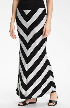 Karen Kane Contrast Waist Maxi Skirt