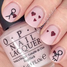 cute love you nail art