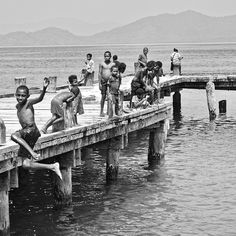#Samarai Papua New Guinea. When will life ever be this much fun again? A jetty to jump off and a warm #sea and you're in heaven. by tripwiredau