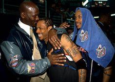 Allen Iverson: No LeBron James-Michael Jordan Comparison Lebron James Michael Jordan, Michael Jordan Basketball, Love And Basketball, Sports Basketball, Basketball Players, Mike Jordan, Charlotte Hornets, Nba Stars, Sports Stars