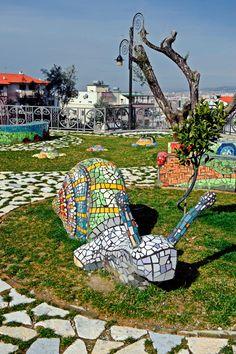 Mosaic decorations, at the Sunny Hill (Kodra e Diellit)  - by Agi Art, Tirana - Albania