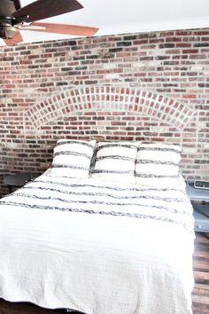 Master Bedroom Brick Wall