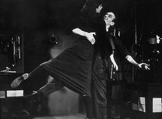 """Sean Hepburn Ferrer: """"I have often been asked...which is my favorite of her films. I have always tried to answer it by naming the movies I knew she had a personal affection for. 'Funny Face' is one of these. It was a dream come true to dance with Fred..."""". Audrey and Fred Astaire dance in 'Funny Face', 1957."""