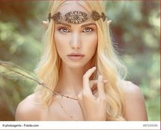 Fotalia photoagents; fantasy young woman in the woods