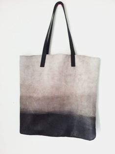 Ombré leather Bag Soft leather tote by LadyBirdesign on Etsy, $220.00