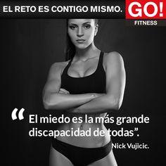Nick Vujicic. #gofitness #clasesgo #ejercicio #gym #fit #fuerza #flexibilidad #reto #motivate Sport Motivation, Fitness Motivation Quotes, Weight Loss Motivation, Go Fitness, Fitness Nutrition, Nick Vujicic, Gymaholic, I Can Do It, Gym Time