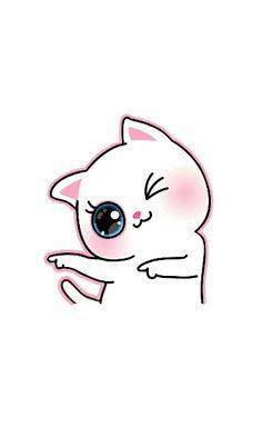 66 Ideas For Cats Cute Wallpaper Kawaii Cartoon Wallpaper Iphone, Cute Cartoon Wallpapers, Kawaii Wallpaper, Cat Wallpaper, Iphone Wallpapers, Kawaii Drawings, Cartoon Drawings, Cartoon Cats, Cat Drawing