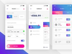 DESCRIPTION This is a really nice freebie using vibrant colors. Brice does an amazing job here by designing a financial mobile app that seems to be an amazing start for a full-blown UI Kit. Mobile Ui Design, Dashboard Design, App Ui Design, Design Android, Spark App, Application Ui Design, Card Ui, Mobile App Ui, Ios App