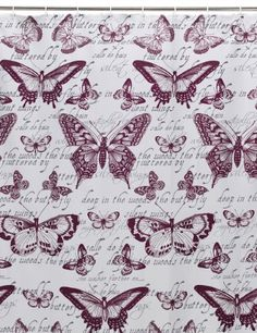 Buy the Butterfly Shower Curtain from Marks and Spencer's range. Butterfly Shower Curtain, Home Projects, Arts And Crafts, Curtains, Purple, Flowers, Gifts, Interiors, Dreams