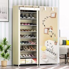 9 Layers Nonwoven Fabric Storage Shoe Rack Dustproof Home Furniture Entryway Saving Space Shoe Organizer Widen Shoe Cabinet Fabric Storage, Shoe Storage, Home Decor Furniture, Living Room Furniture, Shoe Rack Living Room, Types Of Art Styles, Beach Wall Art, Fabric Shoes, Shoe Organizer