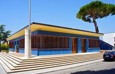 Architecture rationaliste : Hôtel des Postes. Sabaudia, Sabaudia dans le Latium…