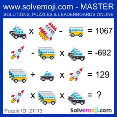 Solvemoji - Free teaching resources - Emoji math puzzle, great as a primary math starter, or to give your brain an emoji game workout. Logic Math, Math Problem Solving, Logic Puzzles, Fun Math, Math Activities, Maths Starters, Brain Teasers Riddles, Math Talk, Math Challenge