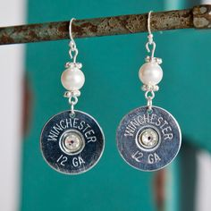 Bullet Earrings  Bullet Jewelry  Winchester by RicochetRounds, $24.95