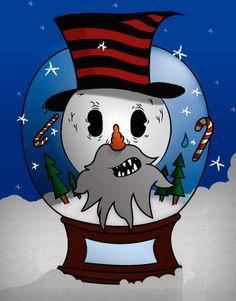 Old Snowman by Sergio (sersh) Salazar, via Behance