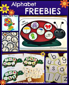 Free alphabet freebies for practicing letters and sounds.