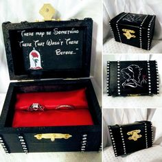 New Disney's Beauty and the Beast inspired Proposal Ring Box!! Large box fits two rings... Customizable #beautyandthebeast #disney