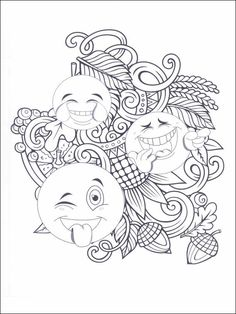 Emojis - Emoticons Coloring Pages 10