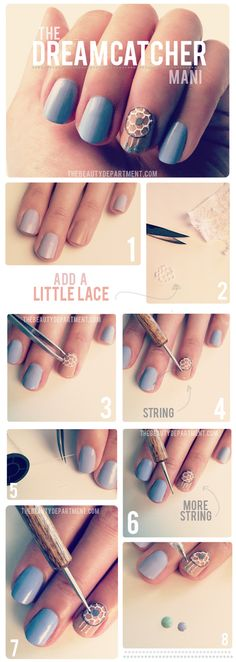 Most popular tags for this image include: nails, dreamcatcher, cute, dream catcher and nail art