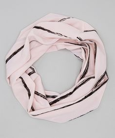 Take a look at this Pink Lines Infinity Scarf on zulily today!