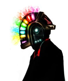 daft punk: portrait of Guy-Manuel de Homem-Christo by ~DarkMatteria on deviantART