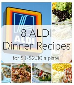 8 Aldi Meals that are cheap but delicious. Great for meal planning on a budget. Your whole family will enjoy these frugal recipes.
