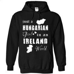 HUNGARIAN GIRL IN IRELAND - #cool shirts #linen shirt. SIMILAR ITEMS => https://www.sunfrog.com/States/HUNGARIAN-GIRL-IN-IRELAND-3927-Black-8349617-Hoodie.html?60505
