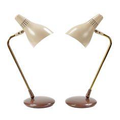Gerald Thurston, Table Lamps for Lightolier, 1950s.