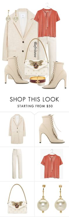 """""""Sin título #449"""" by afritaoo ❤ liked on Polyvore featuring MANGO, Sergio Rossi, Rachel Comey, Madewell, Gucci, Simone Rocha and Tory Burch"""