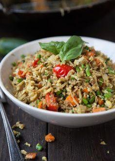 Masala Cauli-Fried Rice(Revised Version) Grain/Gluten Free/Paleo/Primal Serves 2-4 (depending if it's a side or full meal) (Grain Free, Vegan, SCD, GAPS, Paleo)  Ingredients: 3 tablespoons...