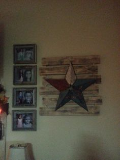 Kids pics in  our Western living room