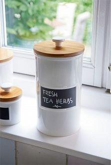 Емкость для хранения с грифельной строкой Chalkboard