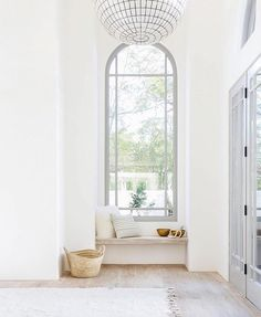 This is so pretty!  Love the gray trim + doors and the no baseboard detail!  So…