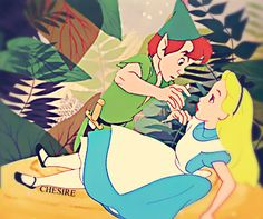 Peter Pan and Alice