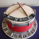 Birthday cake idea for the ones who loves music, plays drum, band or something
