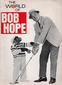 Early 1970's Comedian Movie Legend Bob Hope Souvenir Show Program Picture Book. Hope was a comedian, vaudevillian, actor, singer, dancer, author, and athlete who appeared on Broadway, in vaudeville, m