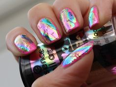 Image result for pink foil nails