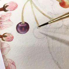 Watercolor Beginner, Watercolor Video, Watercolor Artwork, Floral Watercolor, Watercolor Flowers Tutorial, Watercolour Tutorials, Watercolor Techniques, Coloring Book Art, Learn Art