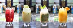 Makgeolli cocktails; Makgeolli is a carbonated #Korean rice wine which is sweet and milky.