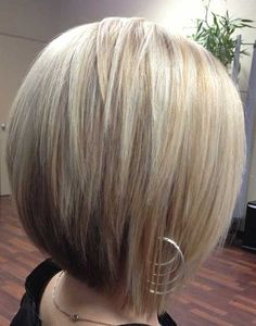 Cute angle-layered bob. Would only cut this for someone with naturally stick straight hair or someone willing to flat iron or skinny-iron each day. ALEX