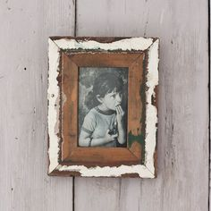 Distressed wooden reclaimed photo frame These reclaimed timber photo frames are made from wood collected through recycling centres #upcycled #photoframe #homedecor