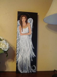 Black and White Angel Painting