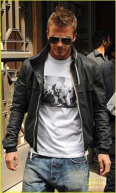 David Beckham, home de estilo.