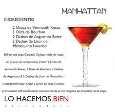 Manhattan - Festejá con Estilo! de LO HACEMOS BIEN bartenders Como preparar un Manhattan - Recipie How to prepare a Manhattan Cocktail - Party with style!