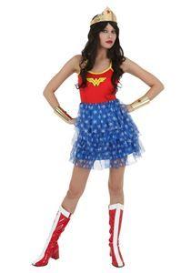 Wonder Woman Tutu Skirt Dress - 340145 | trendyhalloween.com #halloweencostumes #womenderwoman #womenscostumes